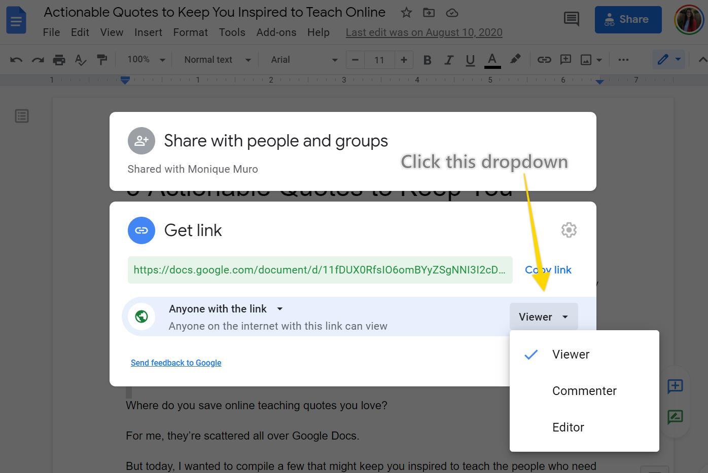 Add a Google Doc to Thinkific